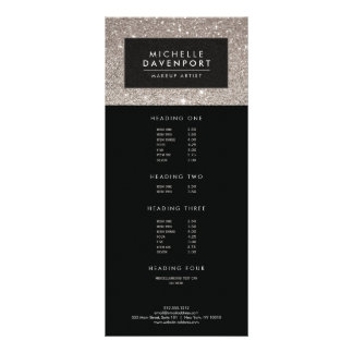 Classic Silver Glitter Makeup Artist Rack Card