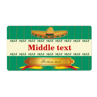 Classic Style Mild Chilli Label Shipping Label