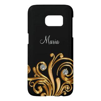Classy Bling Monogram Galaxy S7 Case