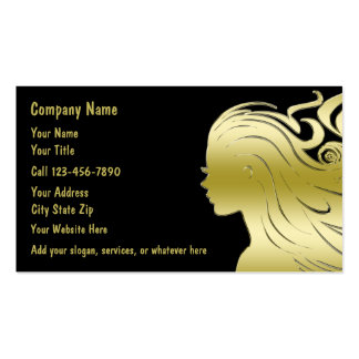 Classy Hairdressing Business Cards