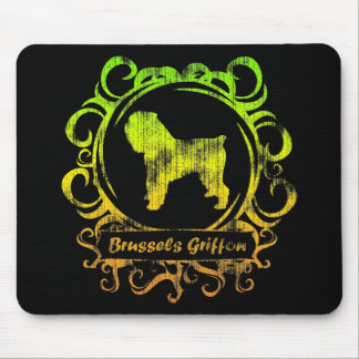 Classy Weathered Brussels Griffon Mouse Pad