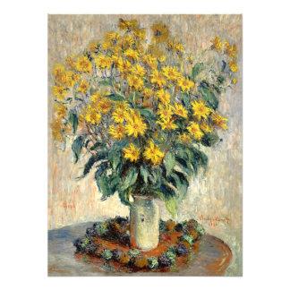 Claude Monet Jerusalem Artichoke Flowers 1880 Photographic Print