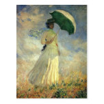 """Claude Monet, """"Woman with a Parasol"""" Postcard"""