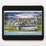 Cleveland Stadium Skyline at Dusk, Cleveland, Ohio Mouse Pad