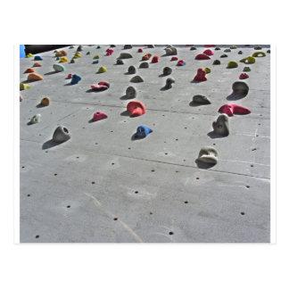 Climbing wall postcard