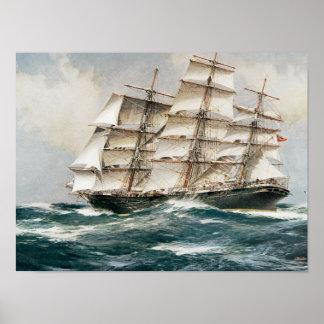 Clipper Ship Torrens Poster