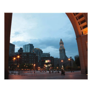Clock Tower in Boston by Night. Photograph