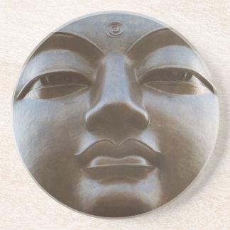Close-up of Buddha statue Beverage Coasters