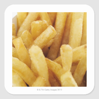 Close-up of French fries Square Sticker