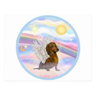 Clouds - Brown/Red Dachshund Angel Postcard