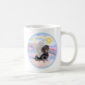 Clous - Dachshund Angel (black/tan) Basic White Mug