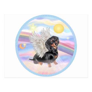 Clous - Dachshund Angel (black/tan) Postcard