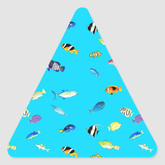Clownfish and Tangs Scatter Triangle Sticker