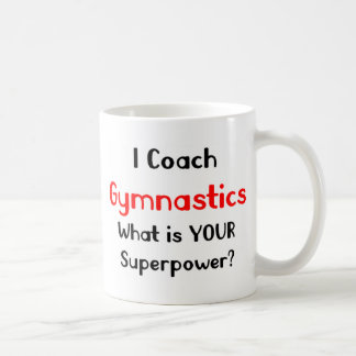 Coach gymnastics basic white mug