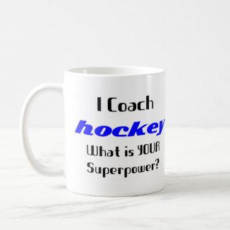 Coach hockey basic white mug
