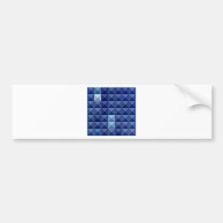 Cobalt Blue Abstract Low Polygon Background Bumper Sticker