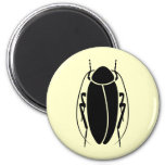 Cockroach 6 Cm Round Magnet