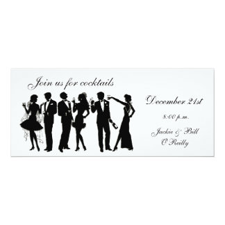 Cocktail Party People 10 Cm X 24 Cm Invitation Card