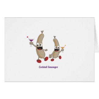 cocktail Sausages Greeting Card