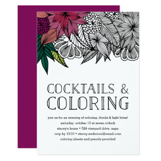 Cocktails and Coloring Party Invitation