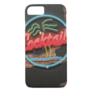 Cocktails Nightclub Neon. iPhone 7 Case