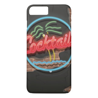 Cocktails Nightclub Neon. iPhone 7 Plus Case