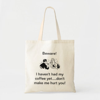 Coffee Couple Tote Budget Tote Bag