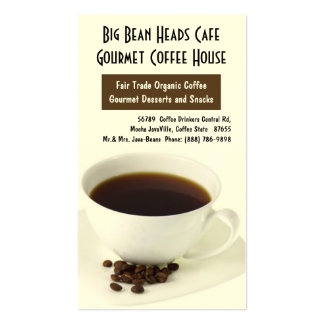 Coffee Cup and Java Beans Pack Of Standard Business Cards