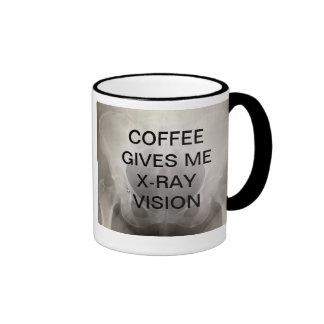 COFFEE GIVES ME X-RAY VISION RINGER MUG