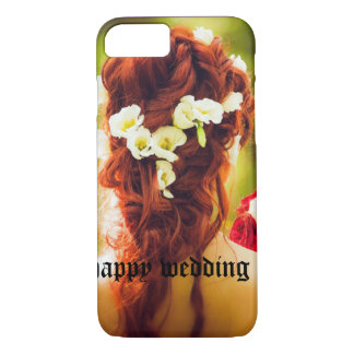 cohesion, wedding, flowers, hair, red hair, red ro iPhone 7 case