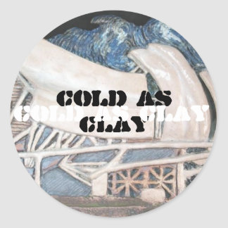 Cold as clay - Millennium Park Round Stickers