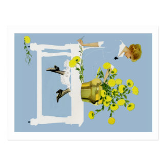 Coles Phillips Fadeaway Chrysanthemums Postcard