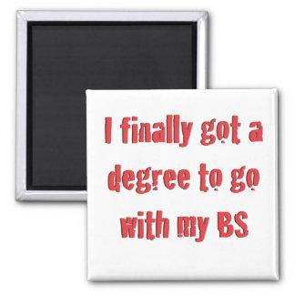 College Graduation Square Magnet