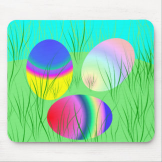 Coloful Easter eggs Mouse Pad