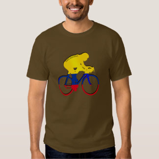 Colombia cyclist Colombian flag bicycle gear Tees