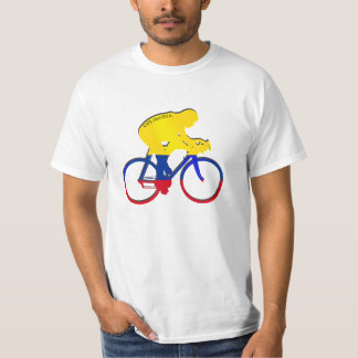 Colombia cyclist Colombian flag bicycle gear Tshirts