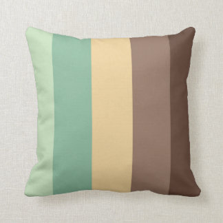 color combination stripe pillow- mint choco cushions