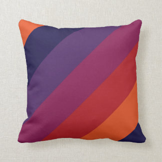 color combination stripe pillow- sunset cushions