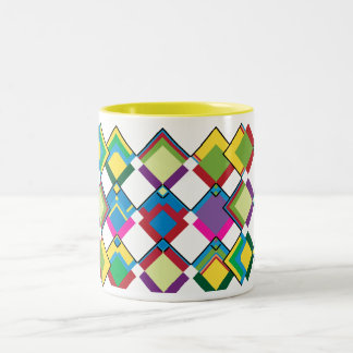 Color combination Two-Tone Mug By RokCloneDesigns