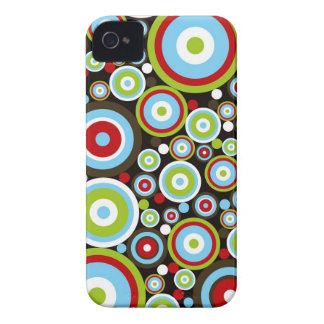 Color Concentric Circles Pattern iPhone 4 CaseMate Case-Mate iPhone 4 Cases