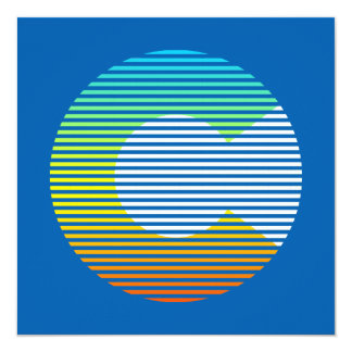 colorado chill fade 13 cm x 13 cm square invitation card