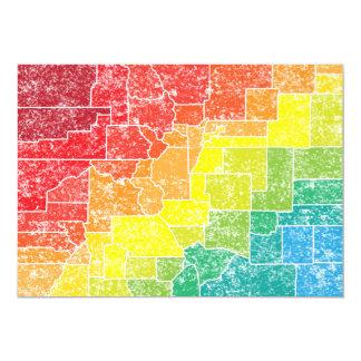 colorado color counties 13 cm x 18 cm invitation card