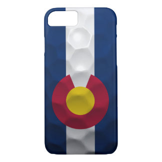 Colorado Flag Golf Ball Pattern iPhone 7 Case