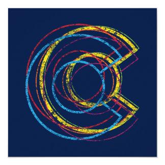 colorado pride blur 13 cm x 13 cm square invitation card