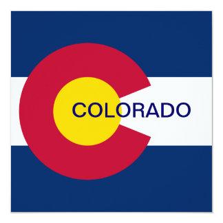 Colorado State Flag 13 Cm X 13 Cm Square Invitation Card