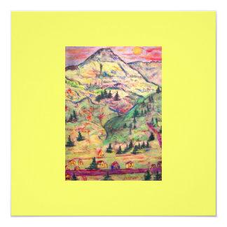 colorado  town 13 cm x 13 cm square invitation card