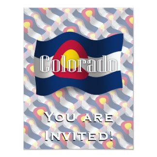 Colorado Waving Flag 11 Cm X 14 Cm Invitation Card