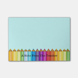 Colored Pencils Teacher's Note Pad Post-it® Notes