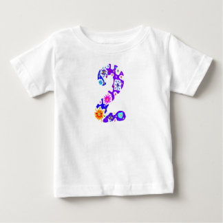 Colorful 2 Two Year Old Girl T-shirt