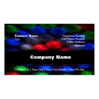 Colorful Abstraction of Light Pack Of Standard Business Cards